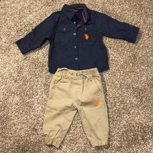 U.S. Polo assn matching set for babies